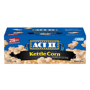 ACT II® Kettle Corn Microwave Bags - 28/3oz