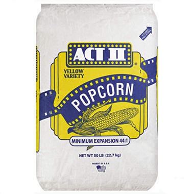 Act II Yellow Variety Popcorn - 50 lb. bag