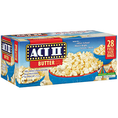 Act II Butter Microwave Popcorn (28 ct.)