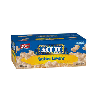 ACT II® Butter Lovers Microwave Popcorn (3oz., 28 bags)