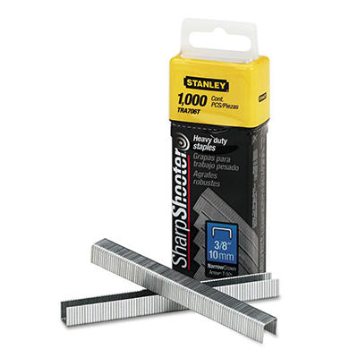 Stanley Bostitch - Sharpshooter 3/8 Inch Leg Length Staples - 1,000 Pack