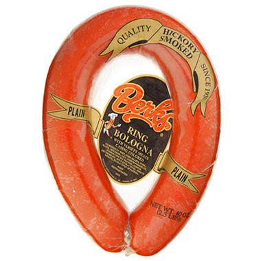 Berks® Plain Ring Bologna - 2.5 lb. package