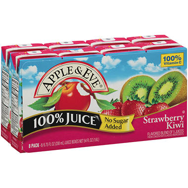 Apple & Eve® Strawberry Kiwi 100% Juice - 6.75 fl. oz. - 8 pk.