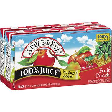 Apple & Eve Fruit Punch 100% Juice - 6.75 fl. oz. - 8 pk.