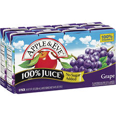 Apple & Eve Grape 100% Juice (6.75 oz. box, 8 pk.)