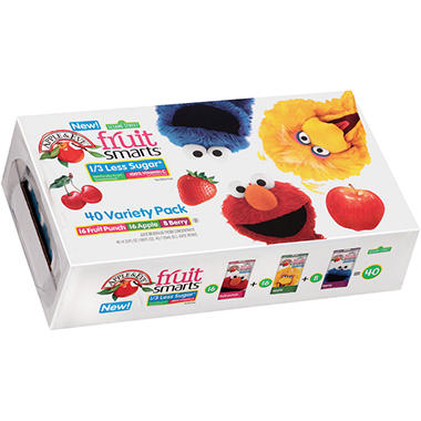 Apple & Eve� Fruit Smarts Juice Beverage Variety Pack - 4.23 fl. oz. - 40 ct.