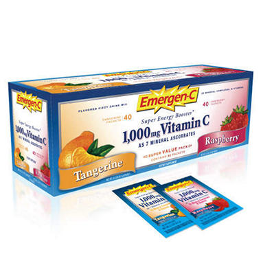 Emergen-C Vitamin C Drink Mix Variety - 80 ct.