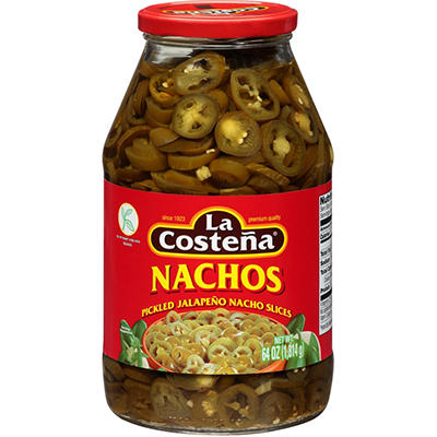 La Costeña® Pickled Jalapeño Nacho Slices - 64 oz.