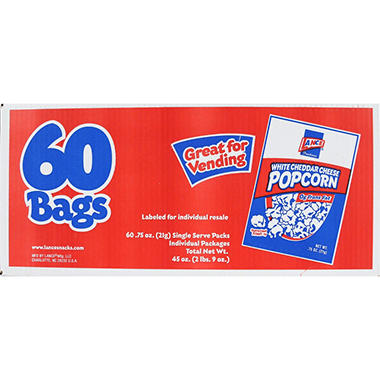 Lance White Cheddar Popcorn - 60ct