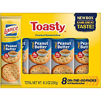 Lance Toasty Peanut Butter Sandwich Crackers (1.0 oz., 8 ct.)