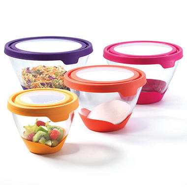 Anchor Splashproof Bowls with Lids - 12 pcs. - Various Colors