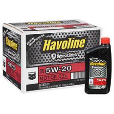 Chevron Havoline w/Deposit Shield 5w20 Motor Oil - 1 Quart Bottles - 12 pk.