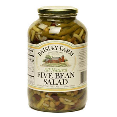 Paisley Farm All Natural Five Bean Salad - 64oz