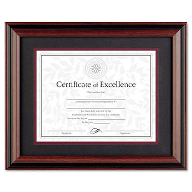 DAX - Desk/Wall Photo Frame, Wood, 11 x 14 - Rosewood/Black