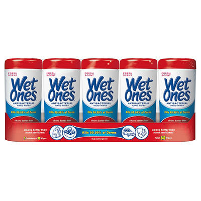 Wet Ones Anibacterial Hand Wipes - Fresh Scent - 5 pk.