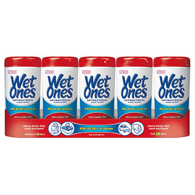 Wet Ones, Fresh Scent, 5 pk.
