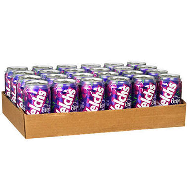 Welch's Grape Soda - 12 oz. cans - 6 pk. - 4 ct.