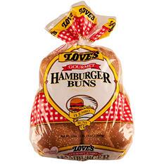 Love's Gourmet Hamburger Buns  (30 oz., 12 ct.)