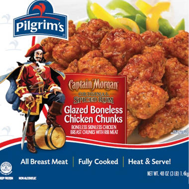 Captain Morgan Glazed Chicken Breast Chunks - 48 oz.