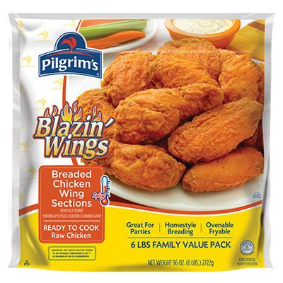 Pilgrim's Chicken Blazin' Wings - 6 lbs.