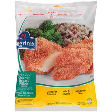 Pilgrim's� Breaded Chicken Breast Fillets with Rib Meat - 48 oz.