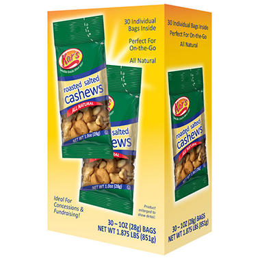 Kar's Nuts 1 oz. Salted Cashews - 30 ct.