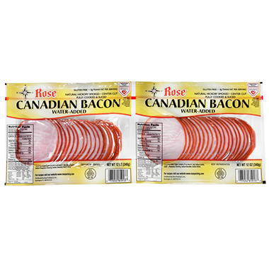 Rose Canadian Bacon 12 oz. pk. - 2 ct.