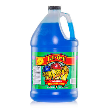 Jell-Craft Coconut Sno-Cone Syrup - 1 gal.