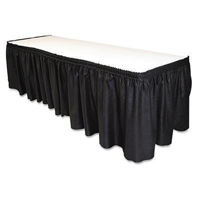 Table Set Linen-Like Table Skirting - Black