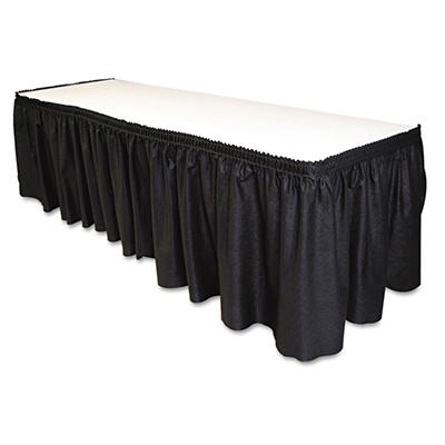 Table Set Linen-Like Table Skirting - Black