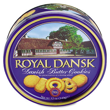 Royal Dansk Danish Butter Cookies - 12 oz. Tin