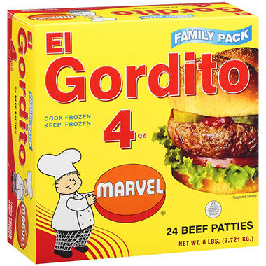 Marvel Hamburger El Gordito (4 oz., 24 ct.)