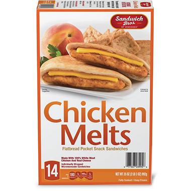 Sandwich Brothers Flatbread Chicken Melt 35 Oz 14 Pk