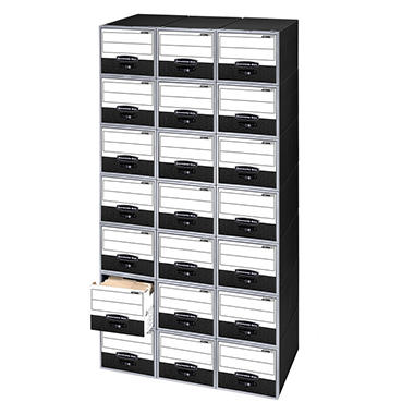 Bankers Box - Super Stor/Drawer File Storage Box - Legal or Letter - Black/White - 6/Carton