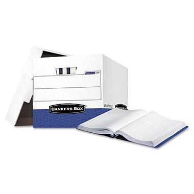Bankers Box - Data-Pak Storage Box - White/Blue - 12/Carton