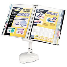 Fellowes - Desktop/Wall Mount Copyholder, Plastic, 10 Pockets -  Platinum