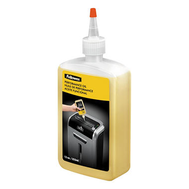 Fellowes Shredder Oil, 12 oz. Bottle w/Extension Nozzle