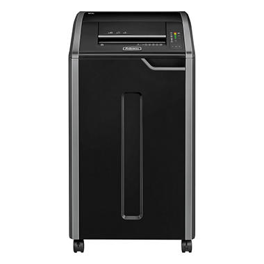 Fellowes Powershred 425Ci Continuous-Duty Cross-Cut Shredder, Black/Dark Silver