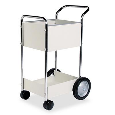 Fellowes - Steel Mail Cart, 75-Folder Capacity, 20w x 25-1/2d x 39h -  Dove Gray