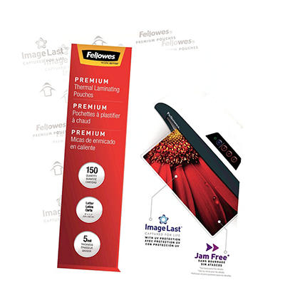 Fellowes Glossy Pouches - Letter - 5 mil - 100 pk.