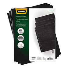 Fellowes - Classic Grain Texture Binding System Covers, 11-1/4 x 8-3/4, Black -  200/Pack