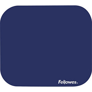 Fellowes - Polyester Mouse Pad, Nonskid Rubber Base, 9 x 8 -  Blue