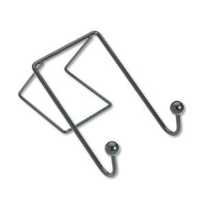 Fellowes - Partition Additions Wire Double-Garment Hook, 4 x 6 -  Black