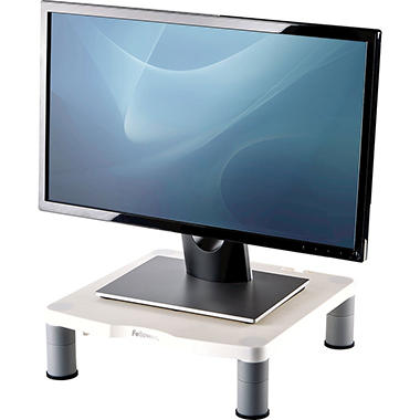 Fellowes - Height-Adjust Standard Monitor Riser, 13 1/8 x 13 1/2d x2-4 -  Platinum