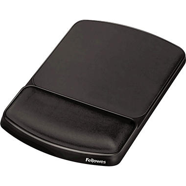 Fellowes Gel Wrist Rest and Mouse Pad - Graphite/Platinum