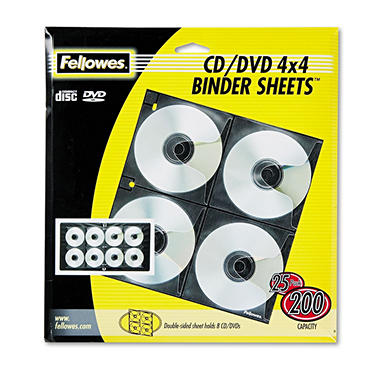 Fellowes 4x4 Binder Sheet - 25 ct.