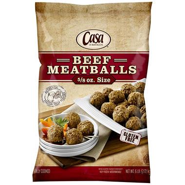 Casa Di Bertacchi 5/8 oz. Size Beef Meatballs (6 lb.)