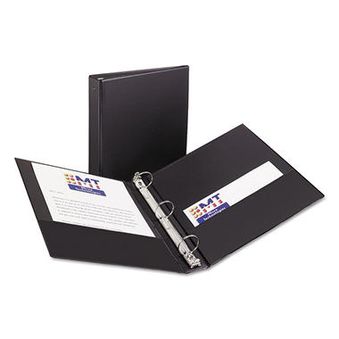 Avery - Economy Reference Binder, Round Ring, Black - Various Sizes