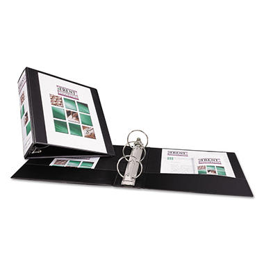 "Avery - Economy Vinyl Round Ring View Binder, 3"" Capacity - Black"