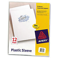 Avery Poly Plastic Sleeves, Clear (Letter, 12 ct.)
